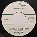 "45Re ✦MACK RICE✦ ""Baby I'm Coming Home / My Baby"" 60s R&B Crossover Floorfiller♫"